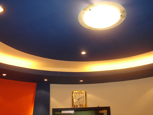 CEILING AT ELETRONIC CITY OFFICE RECEPTION